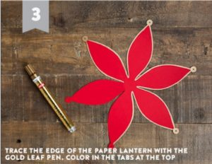 CNY Mini Lantern DIY Instructions Step 3