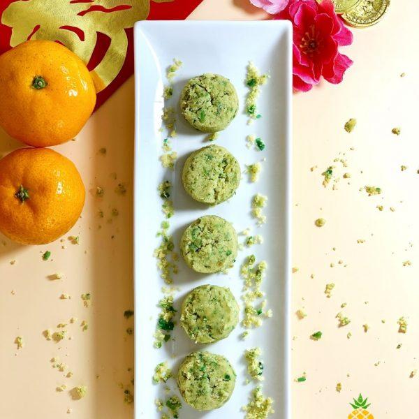 Qing Chun Mei Li Vegan Green Pea Cookies by Pineapple Tarts Singapore