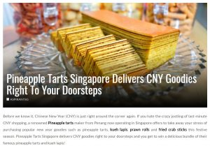 Pineapple Tarts Singapore Review by AspirantSG