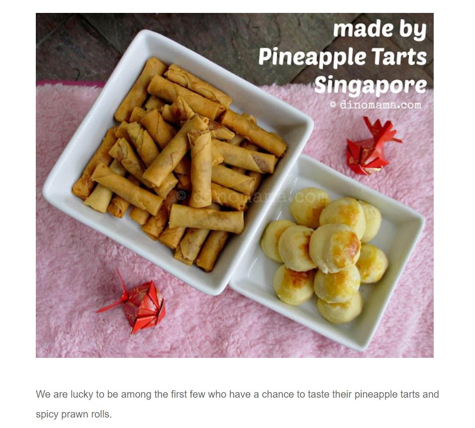 Pineapple Tarts Singapore Review by DinoMama