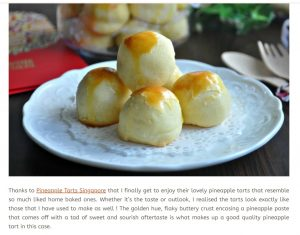 Pineapple Tarts Singapore Review by EatWhatTonight