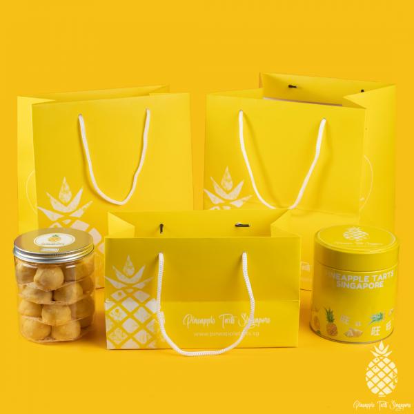 Pineapple Tarts Singapore Gift Bag Size