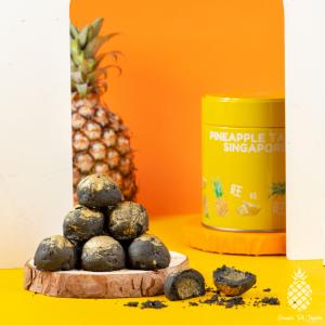 Premium Truffle Charcoal Pineapple Tarts